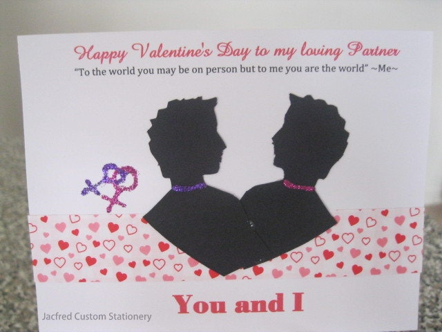 Gay Valentine's Day Card : Male Partners