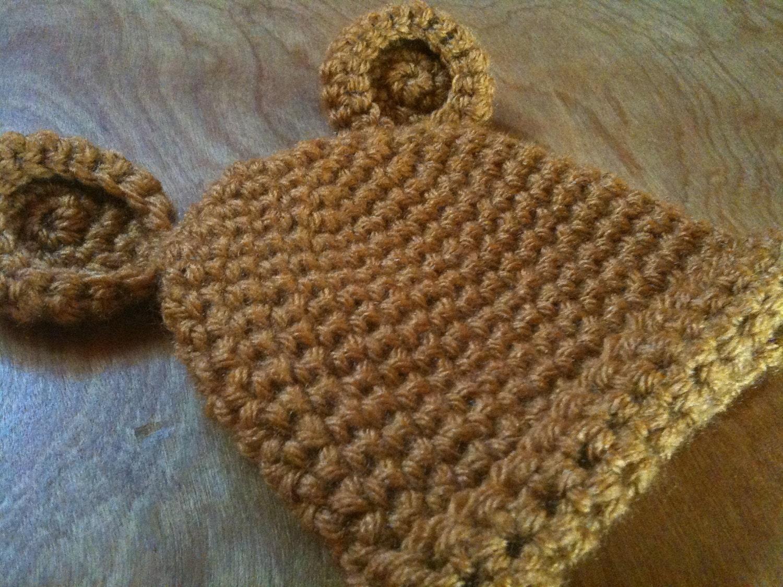 Bear Crocheted Hat