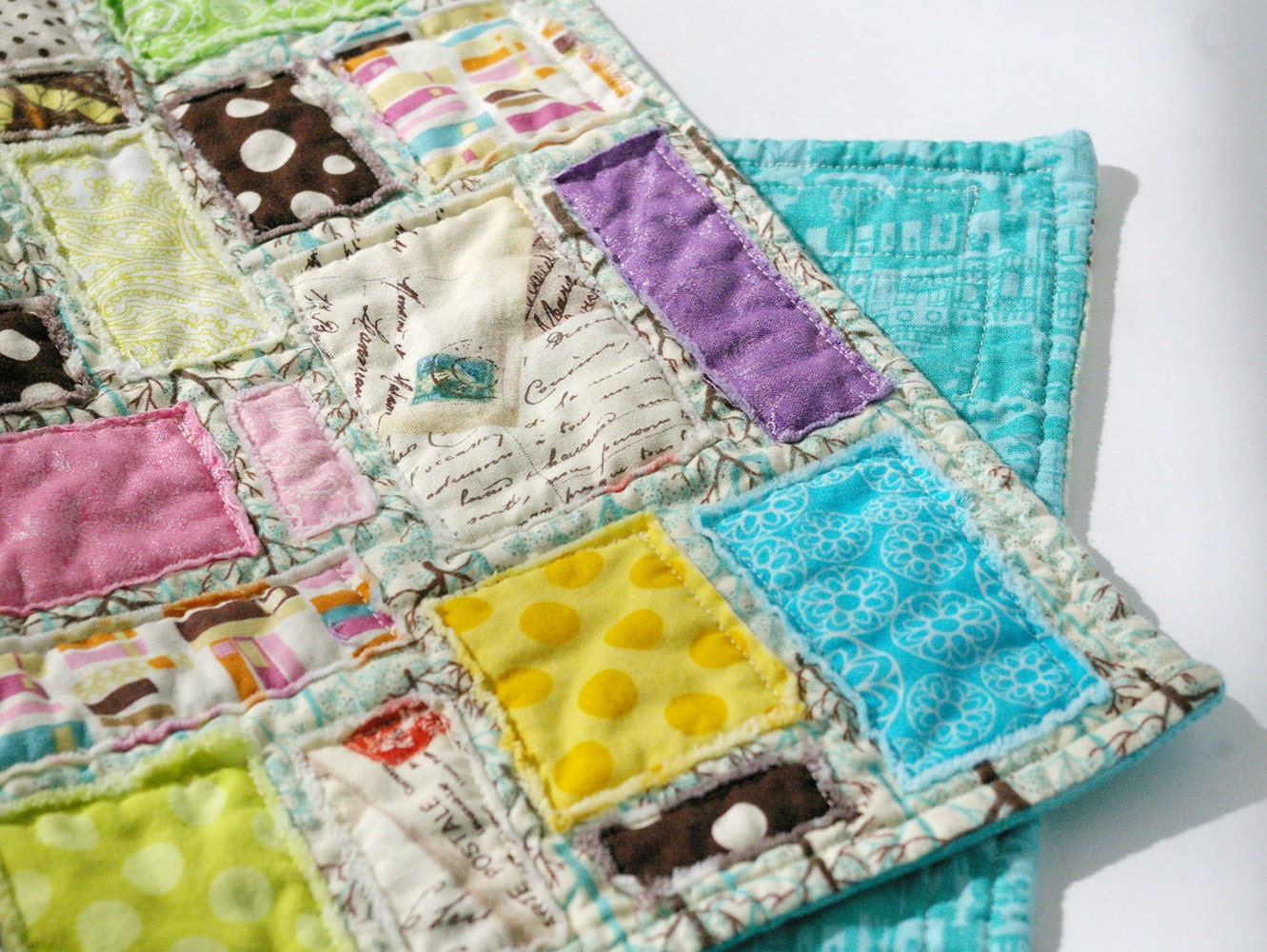 Springtime in Venice :: Scrappy Doll Quilt