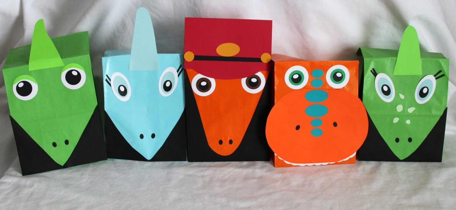 DIY Dinosaur Train Favor Bags. | Is it for PARTIES? Is it FREE? Is ...