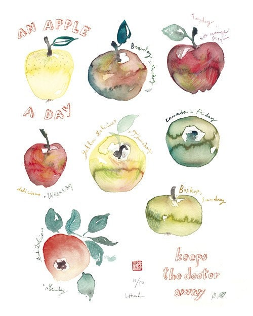 An apple a day - 8 X 10 Limited edition print