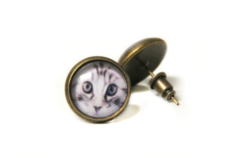 Oorbellen kat - oorbellen kitten - oorstekers kat - oorstekertjes kat - oorknopjes kat - poes oorbellen