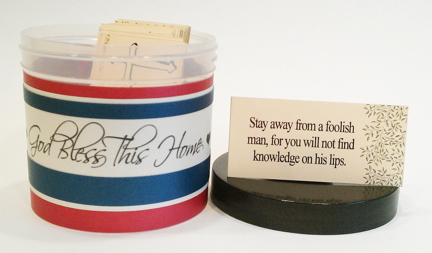 "Patriotic Christian Verse Set -With Scripture Cards- ""God Bless America - Blue"""