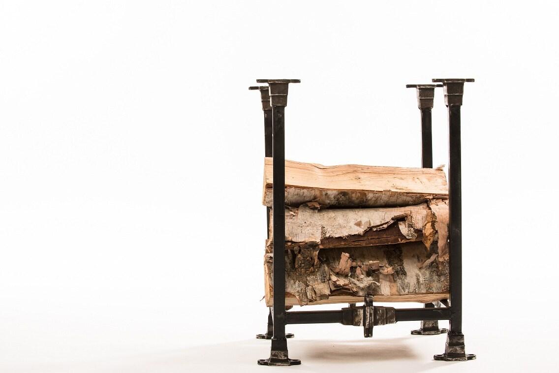 Industrial inspired firewood rack - MagratheaStudio