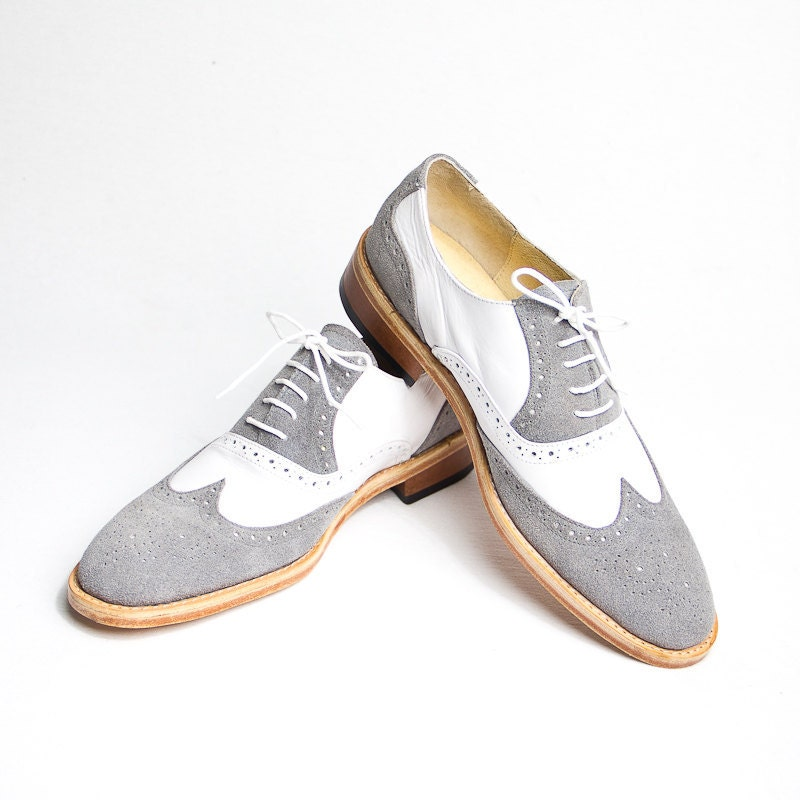 Womens Grey Oxford Shoes
