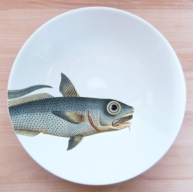 "fishy fish Pasta Bowl- ""barbichette"" - MilestoneDecalArt"