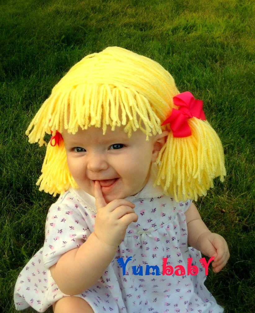 Trend alert: Cabbage Patch baby wigs (yarn wig for baby ...