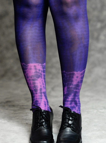 tie dye tight - fuchsia and purple