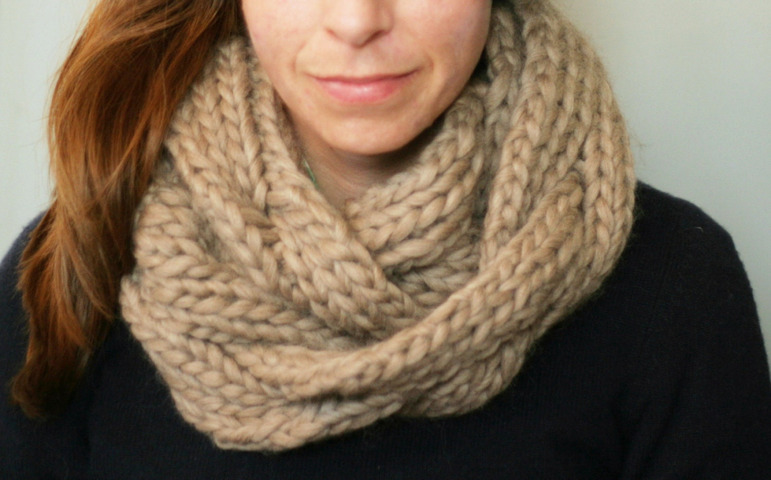 KNITTING PATTERN:  Braided Cable Cowl, chunky cozy knit pattern pdf scarf infinity snood last minute DIY - LearnToKnitWithKatie