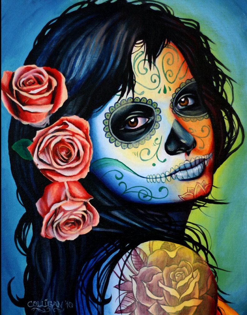 Mexican Day of the Dead Girl Tattoo