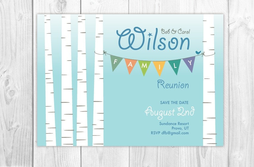 family reunion letter wording