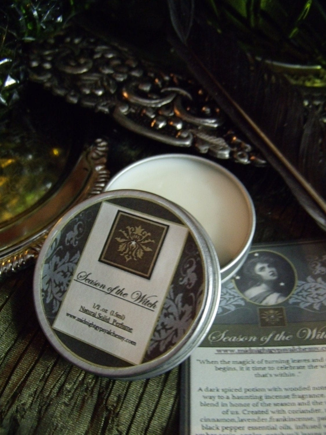 Season of The Witch Natural Solid Perfume Gypsy Apothecary  Coriander,Rose, Apple, Amber, Lavender,Patchouli,