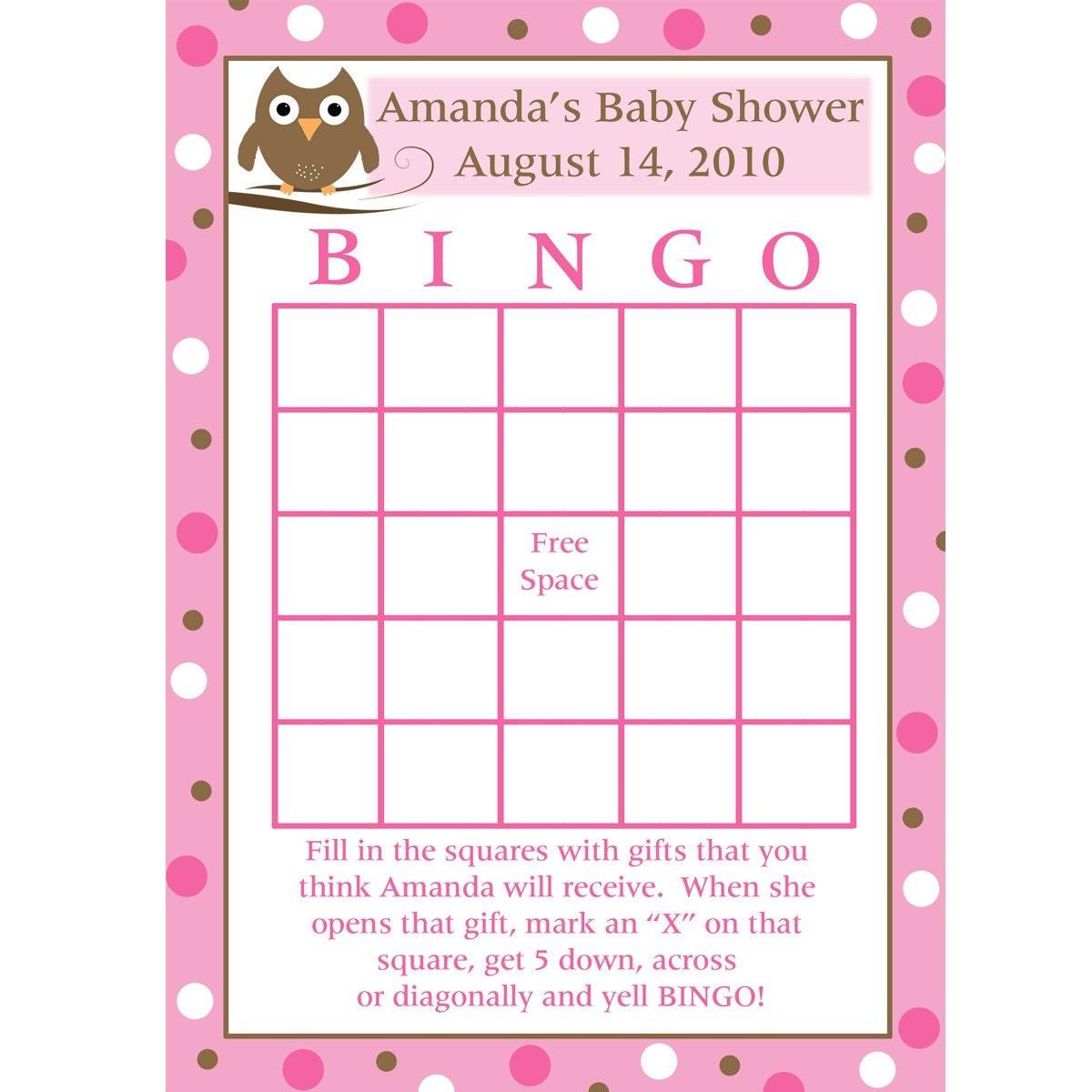 ... Baby Shower Bingo Cards Uk