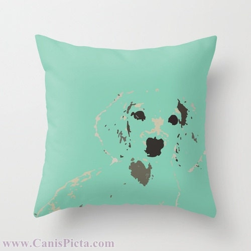 "Dachshund Mint OR Pink 16"" x 16"" Graphic Print Throw Pillow Cover - Dog, Doxie, Dach, Doxies, Weiner, Sausage, Puppy, Bright, Home, Green - CanisPicta"