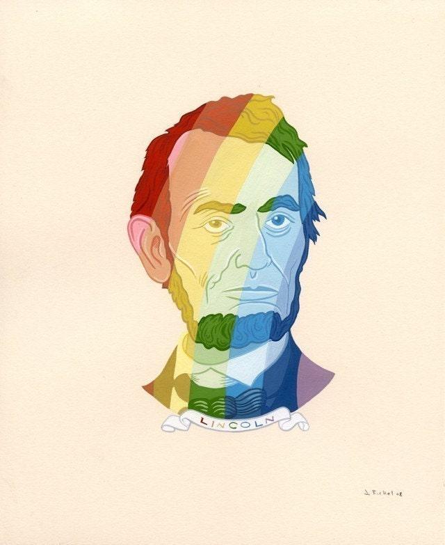 Rainbow Abe-Archival Fine Art Print 8x10