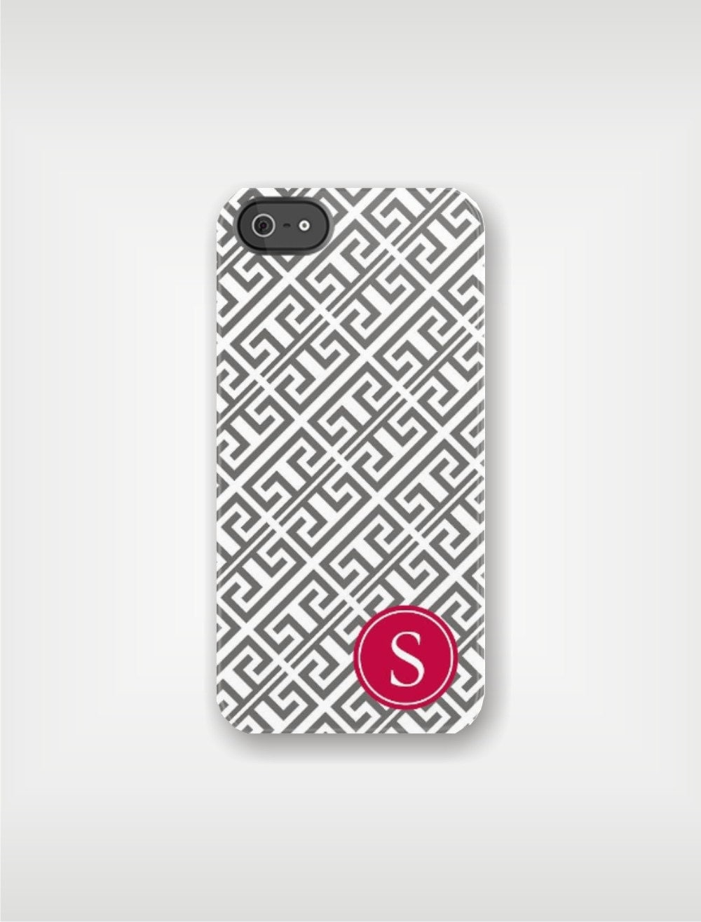 Personalized iPhone 5 Case 4 / 4S or 3G or Samsung - Greek Key - Custom Designed Cover - original design by a drop of golden sun