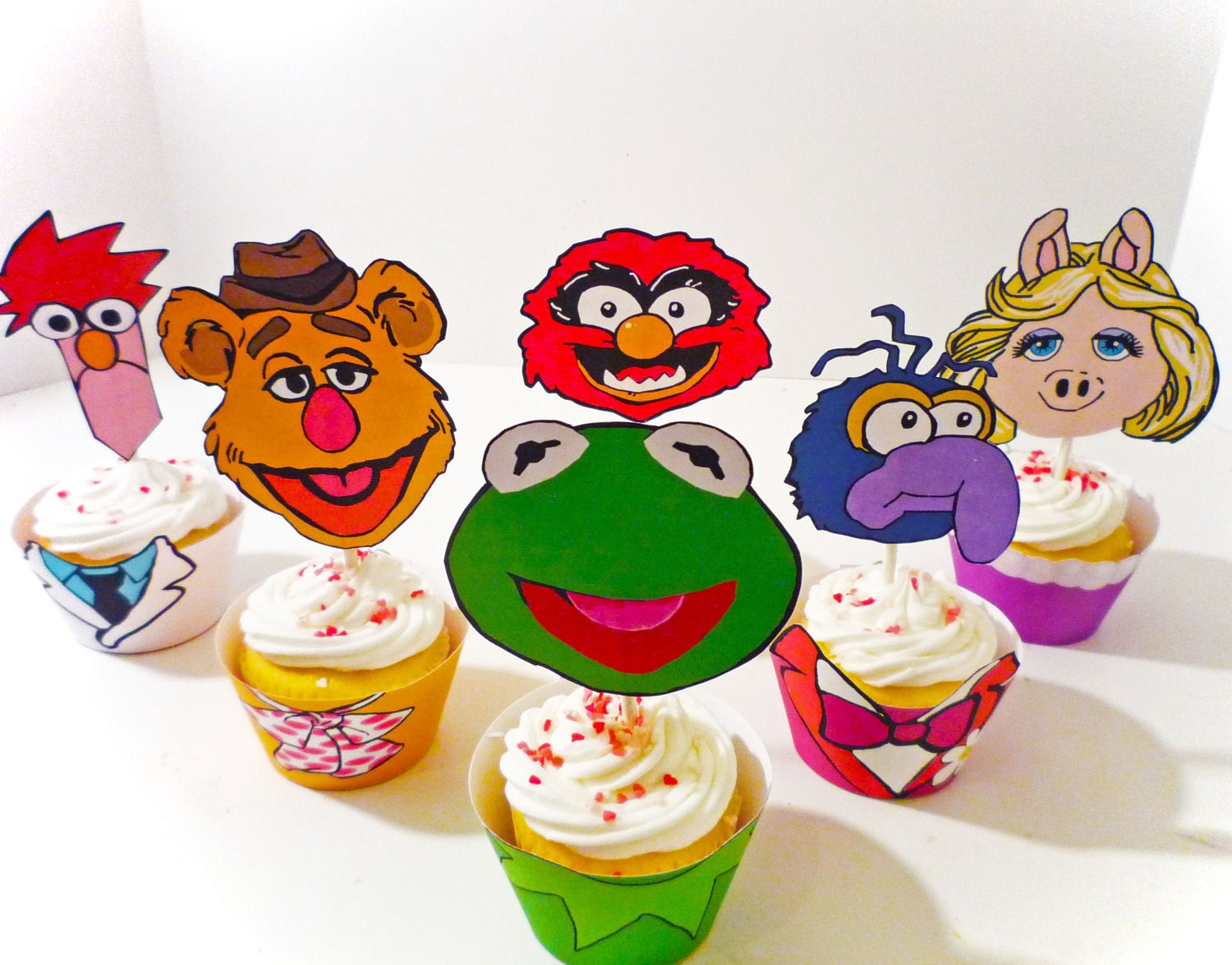 Muppet Printable Party Cupcake Wrappers and Toppers