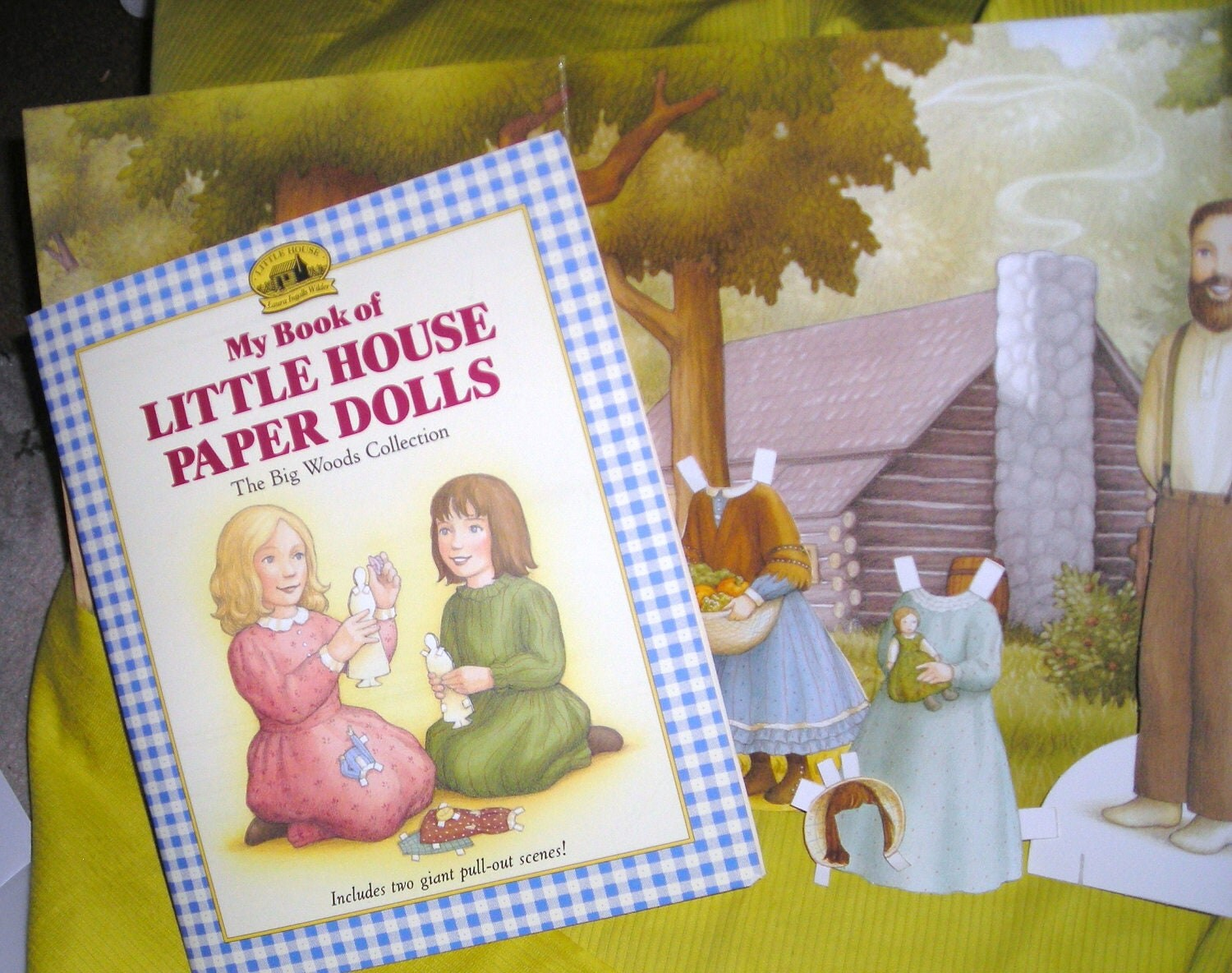 Laura Ingalls Wilder....Paper Dolls Diorama....Little House On The Prairie.....Scrapbook ...... 1972.....P1 - SubwaytotheNorthStar