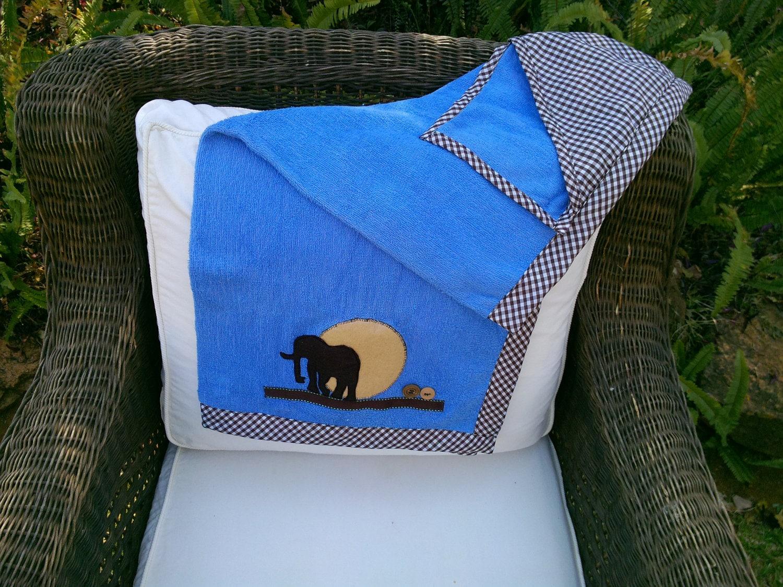 Hooded Bath Towel & Wash Cloth Set, African Animal Design
