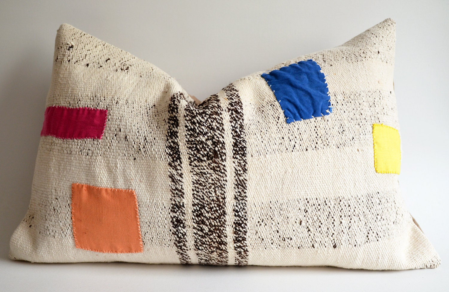 Sukan / Handwoven Vintage Kilim Pillow Covers Bolster Pillow Cover Lumbar Pillow Cover Euro Sham - sukan