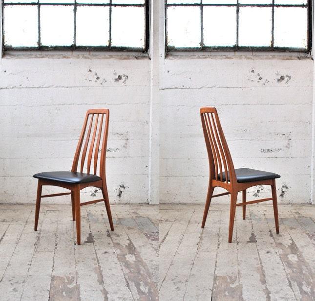 "Six Koefoed ""Eva"" Teak Danish Modern Dining Chairs - MadsenModern"