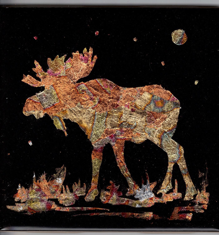 Gilded Maine Moose - GildnTile
