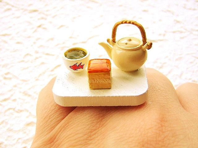 Чай кольцо зеленого чая торт продовольственная
