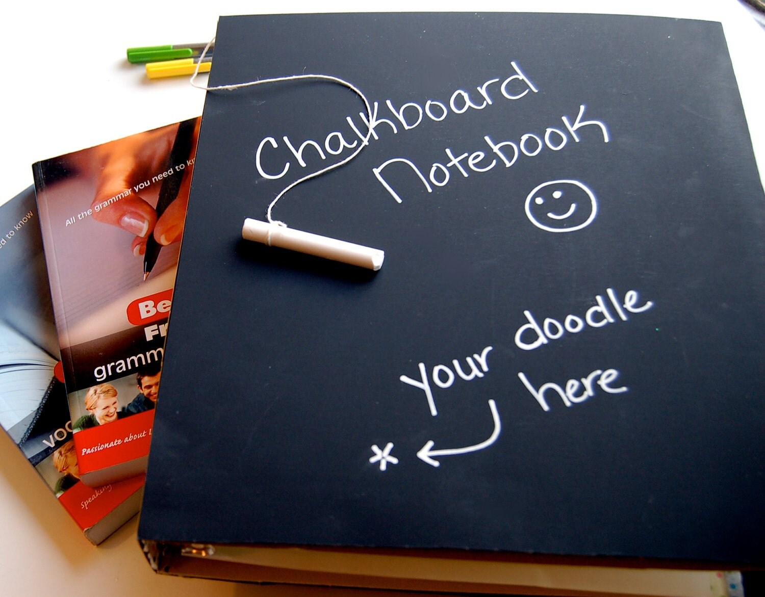 Chalkboard Notebook & Chalk, Binder Notebook for Back to School Supplies - ArtisanPost