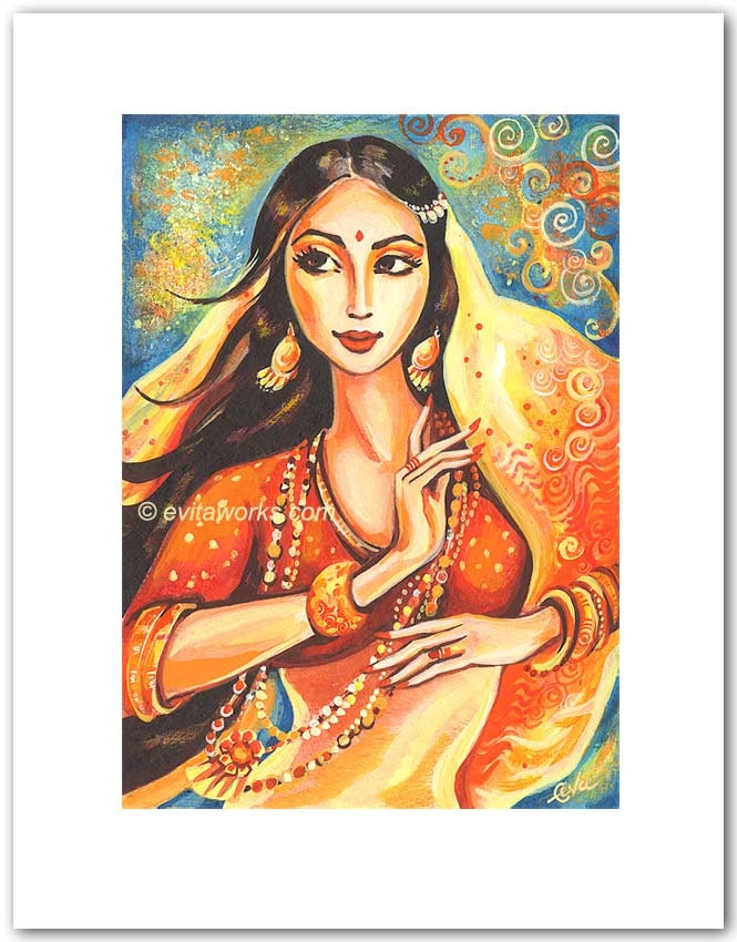 Dancing Woman Indian Painting Indian Woman Dancing Painting Z Duct Heat Exchanger