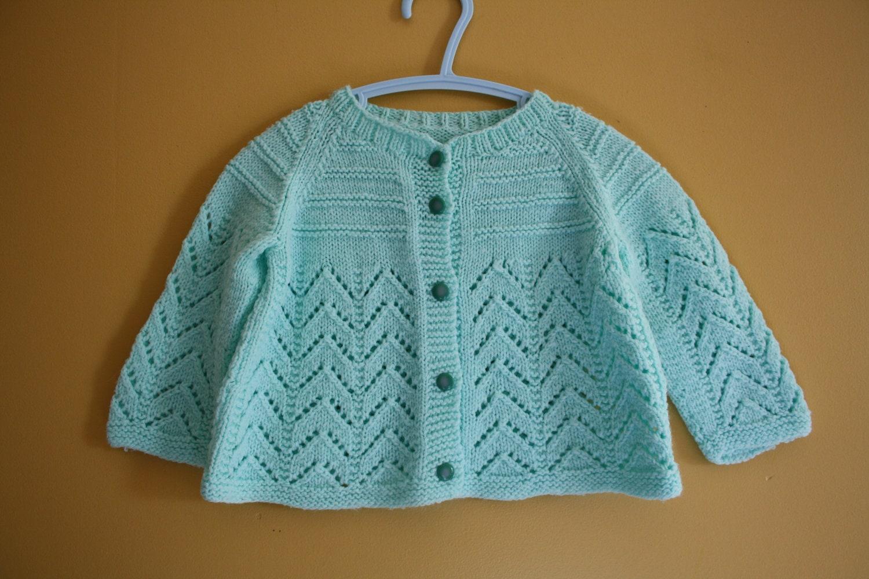 Vintage handmade cardigan sweater / Baby size 12-18 months - bondplacevintage
