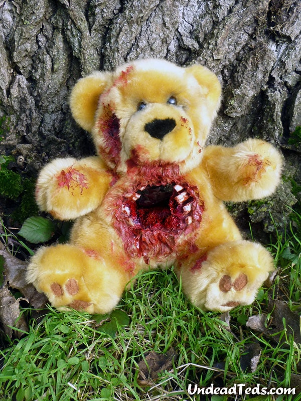 UnDead Ted with Shotgun hole right through its torso.