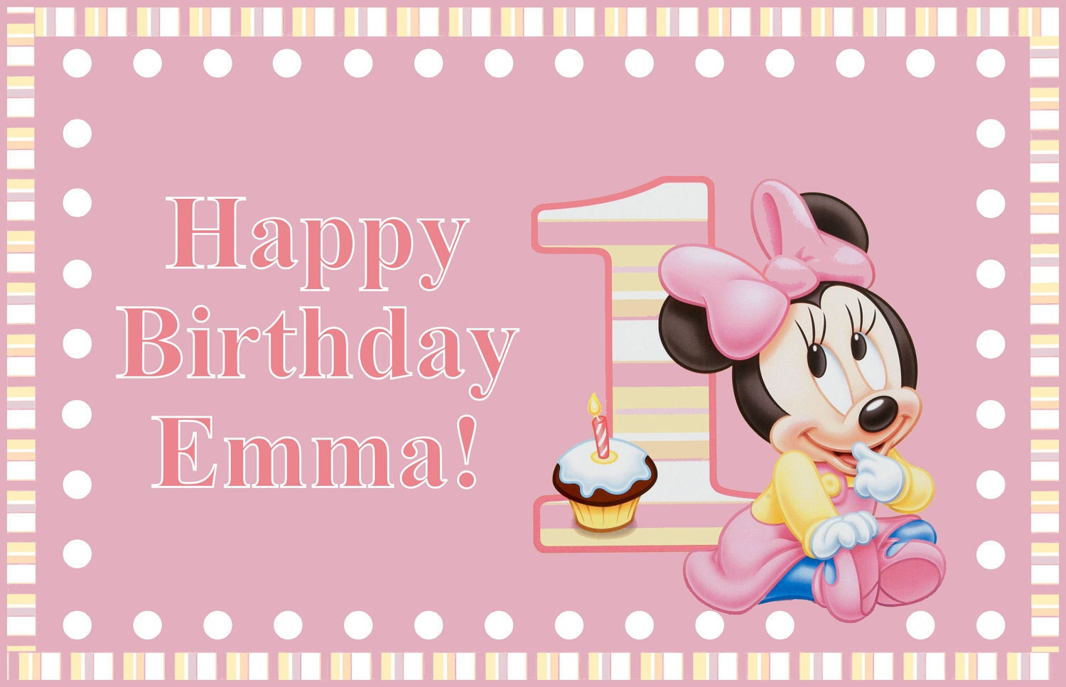 Minnie Mouse Birthday Wallpaper Png Baby 1st