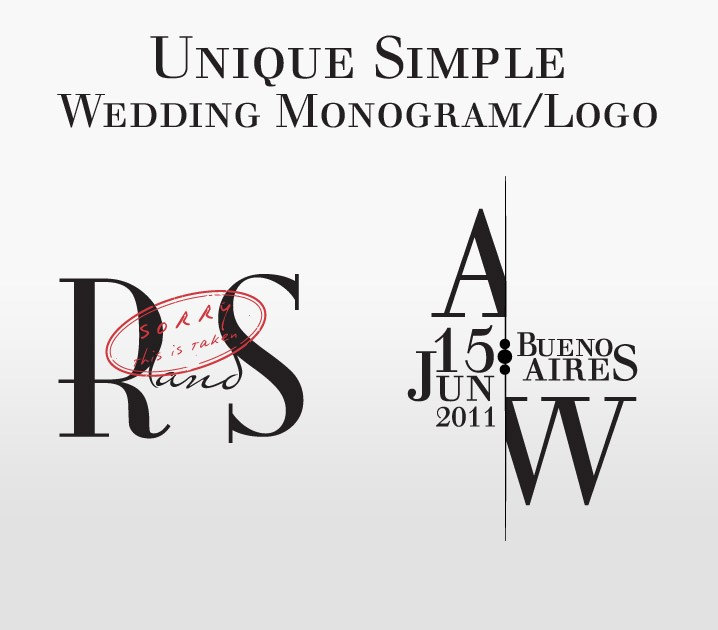 Simple Wedding Monogram Logo Custom From aricklph