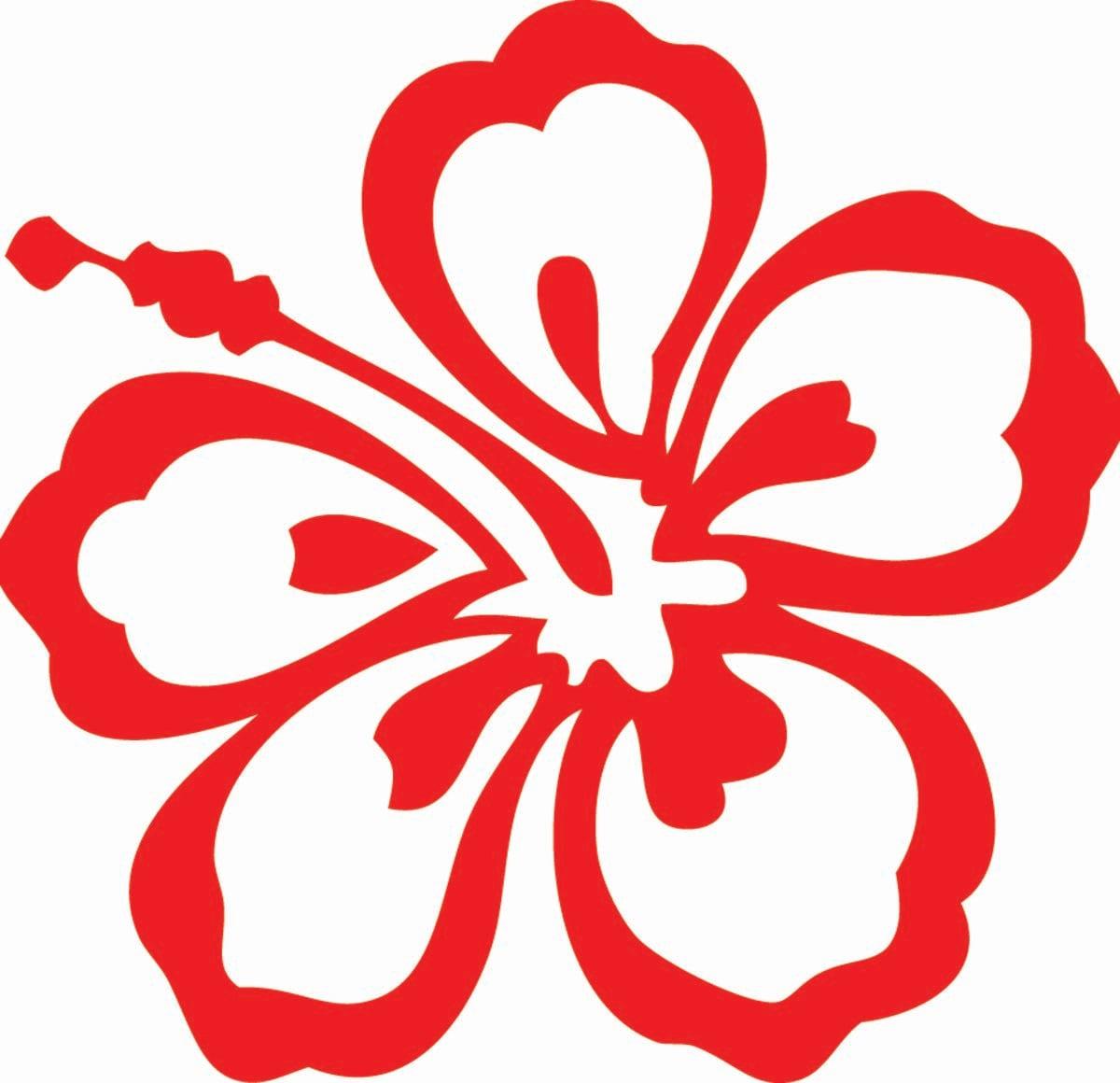 Clavel hawaiano o hibiscus rojo.
