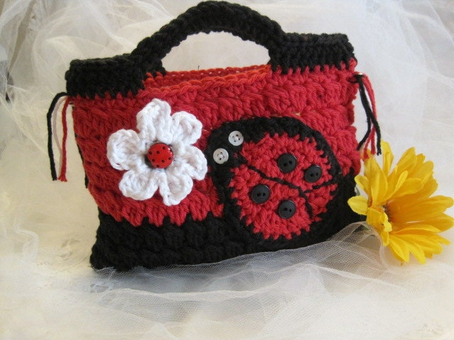 Crochet Girl Bag : Crochet girls purses on Pinterest Crochet Purses, Crochet Bags and ...