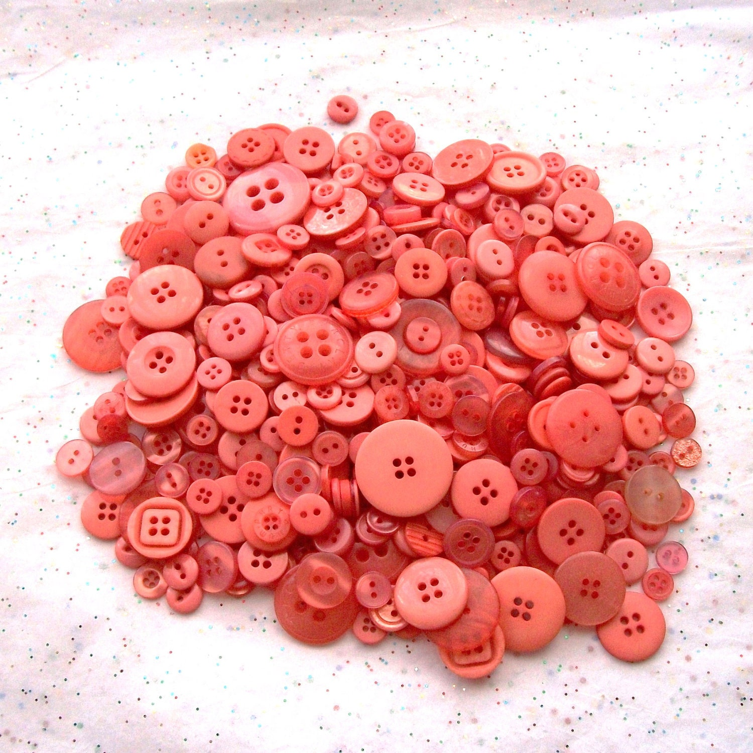Coral-colored Buttons