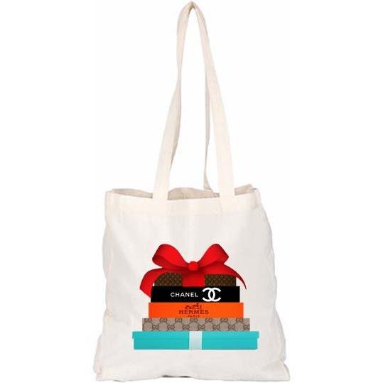 HANDBAG gift box cavans shopper