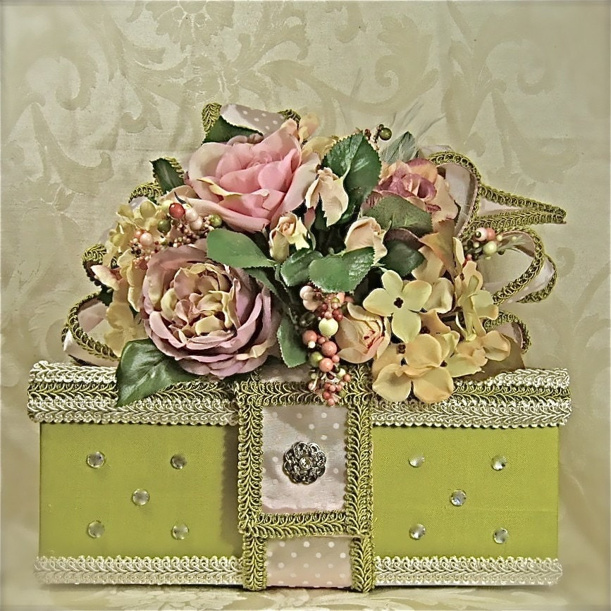 Bright Green Wedding Box Bridal Shower Gift Ideas Young Girls Gift Box