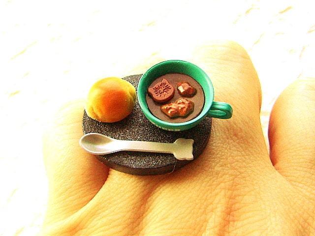 Kawaii продовольственной кольцо суп Хлеб