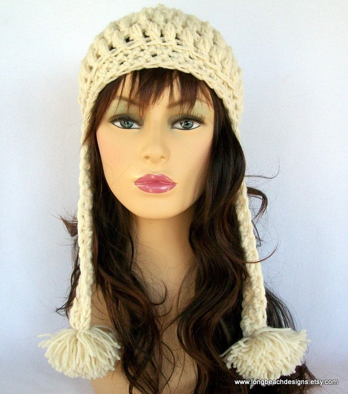 Beanie With Ear Flaps Crochet Pattern Image Collections Knitting