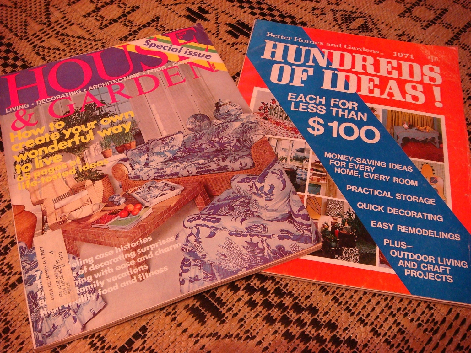 Lot of 2 Vintage 70s Better Home Gardens House by JackobeesBooks