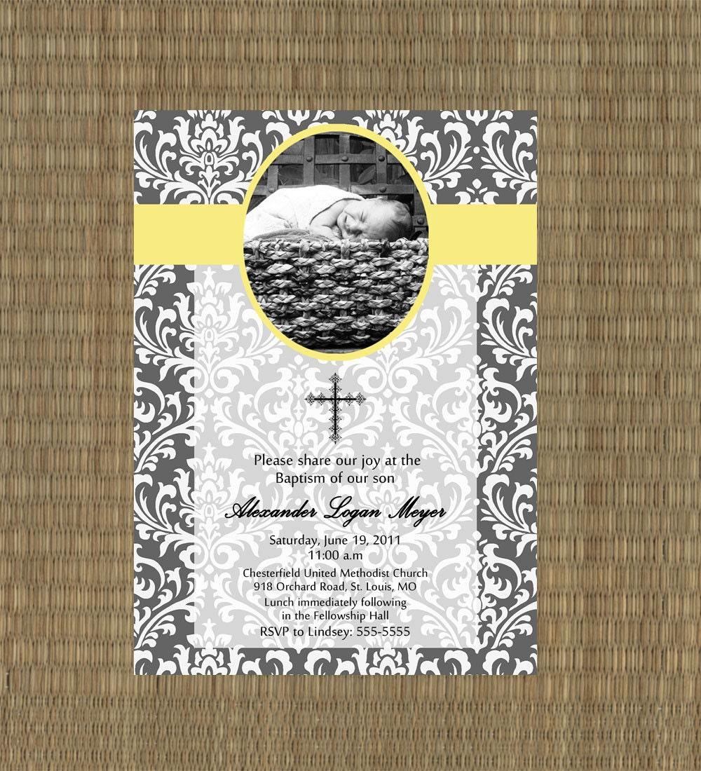 Baptismal Invitations for adorable invitation example