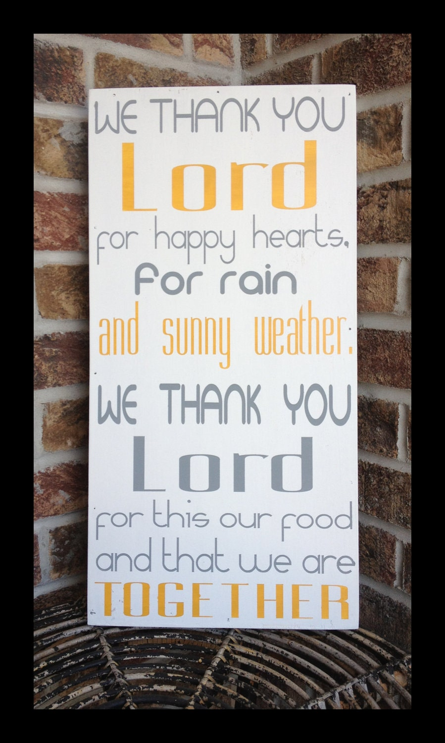 Kitchen Prayer handpainted wood sign We thank you by kspeddler