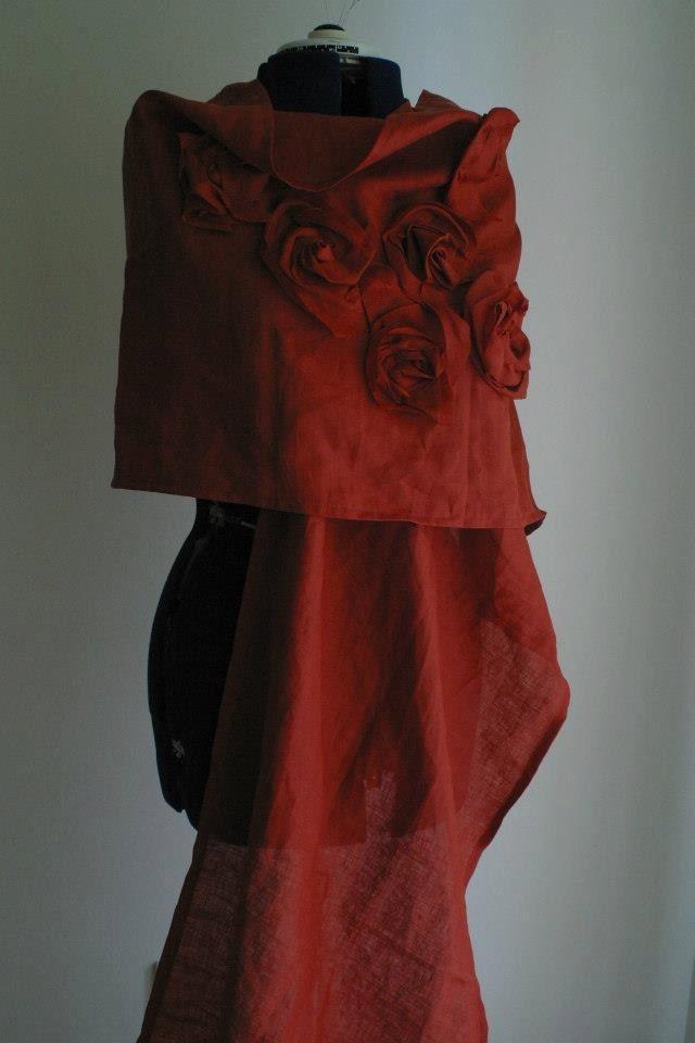 Linen Shawl by NervousWardrobe on Etsy