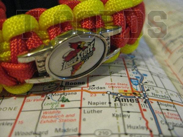 Handmade Iowa State Cyclone Paracord Bracelet