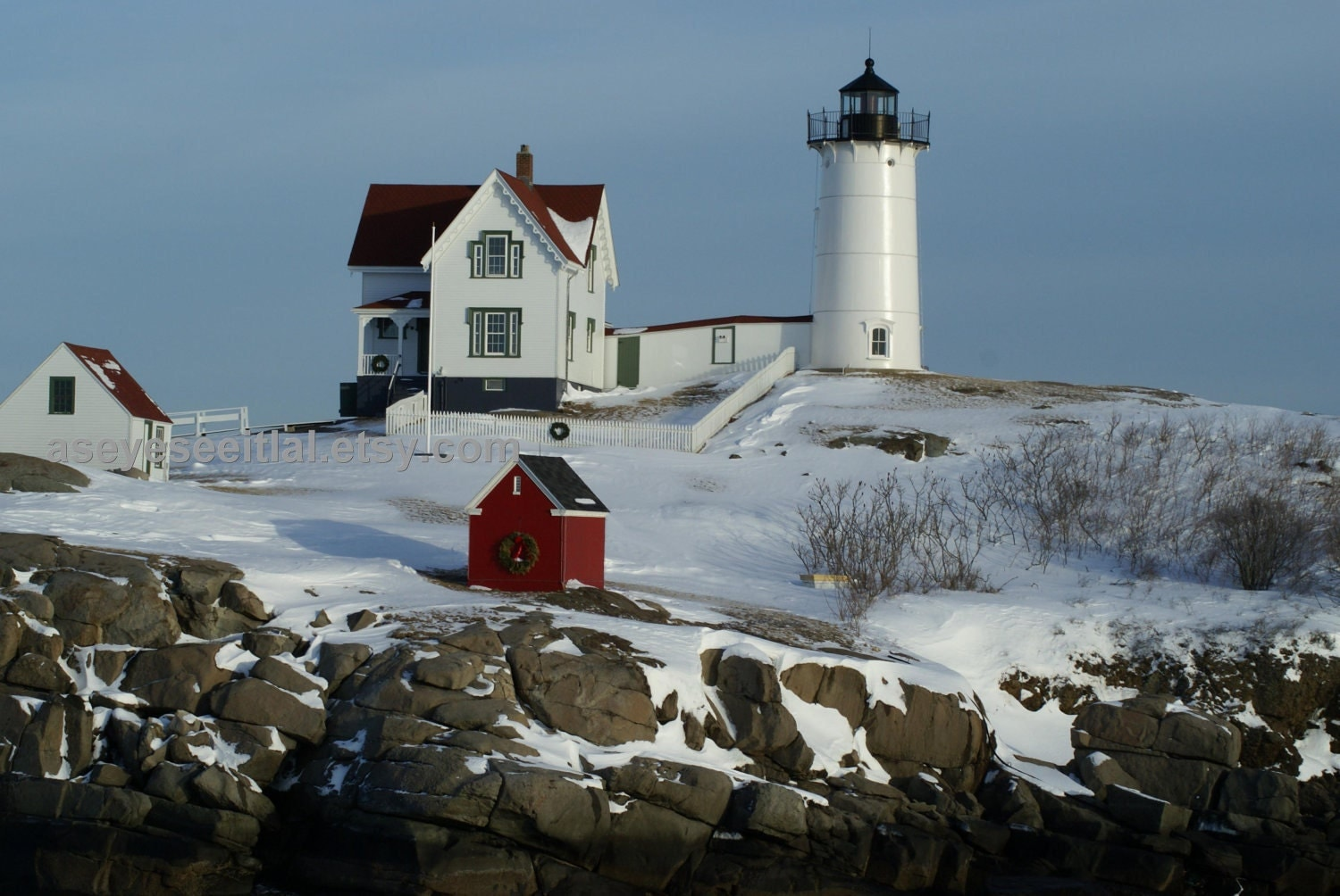 Cape Neddick Lighthouse in winter | Maine | Pinterest