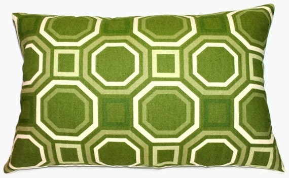 SALE - Retro Verde Accent Pillow