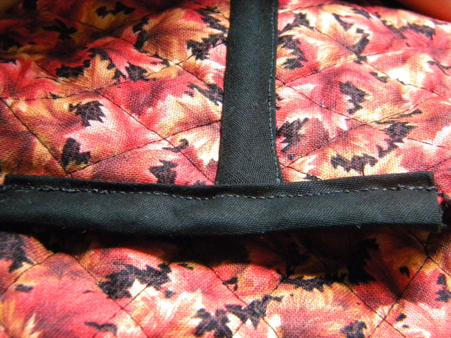 Small Autumn Leaves Tote Bag, reversible bag with strong handles