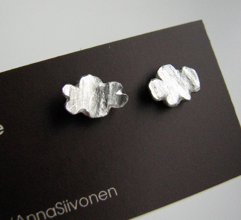 tiny cloud earrings