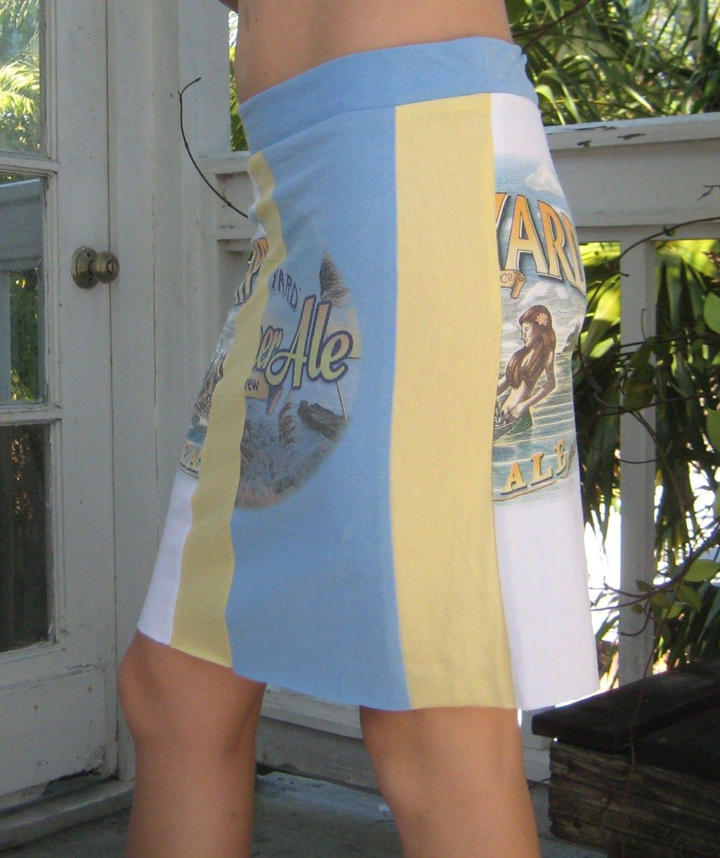 T-Shirt Skirt:  Shipyard Brewing Company Wheat Ale/Summer Ale